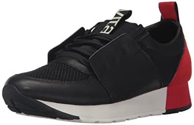 Dolce Vita Women's Yana Sneaker, Black/Red Leather, 6 Medium US
